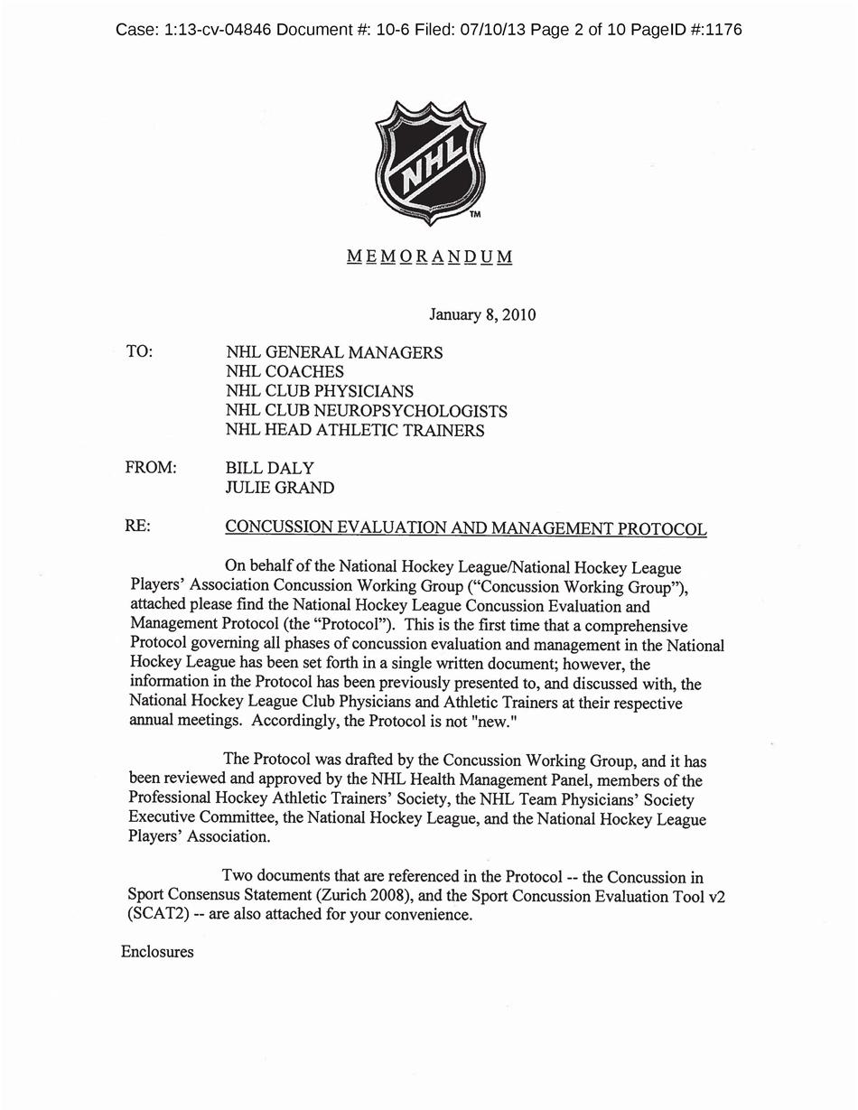 NHL concussion
