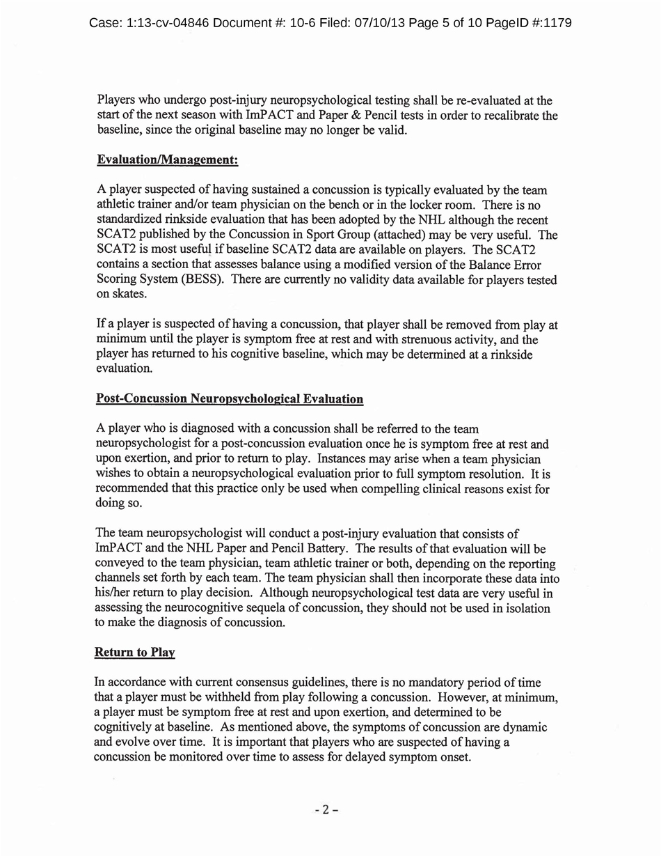 NHL concussion Page 5