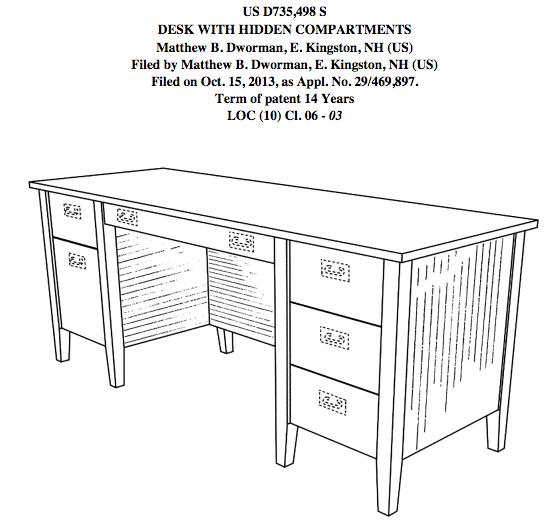 George Costanza desk
